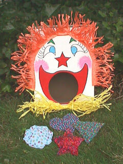 Clown Toss With No Sew Bean Bags